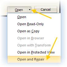 Abrir y Reparar