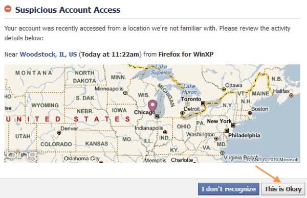 Facebook roadblock