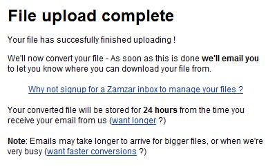 File Upload Complete