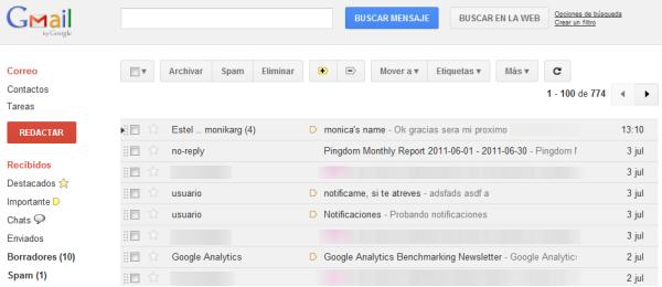 Estilo de Gmail adaptado a los nuevos tiempos