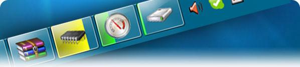 Medidores para la barra de tareas