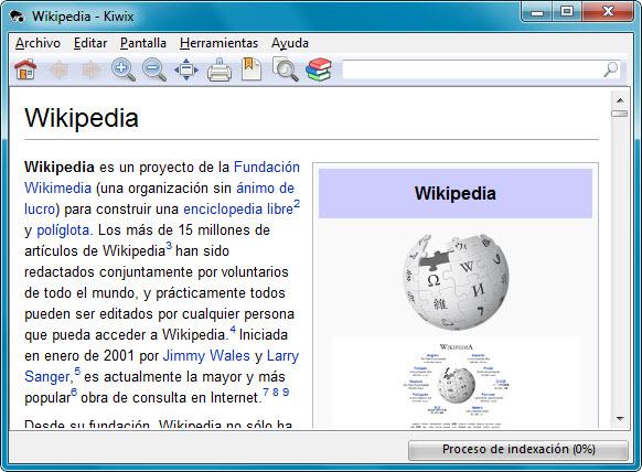 Wikipedia en Kiwix