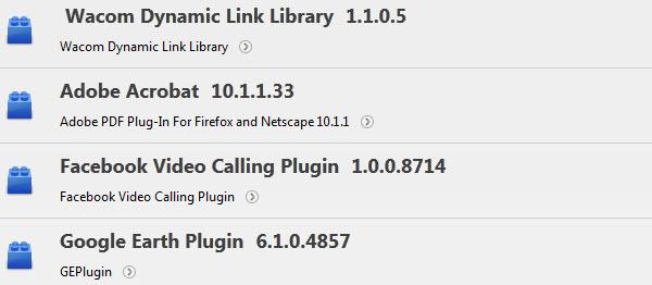 Versiones de plugins